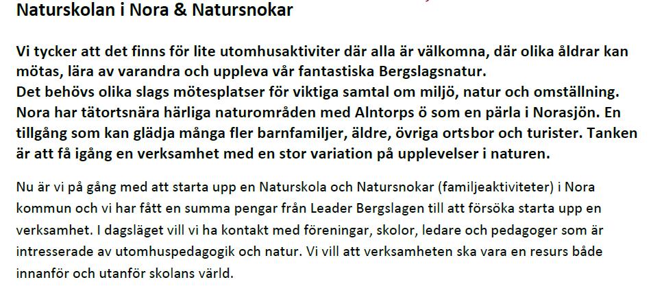 Blogginlägg Naturskola & Natursnokar 1